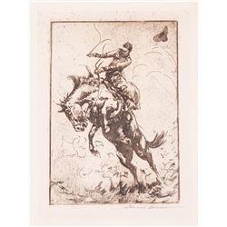 Edward Borein, four etchings