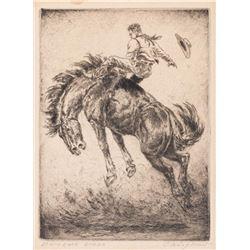 Olaf Wieghorst, three etchings