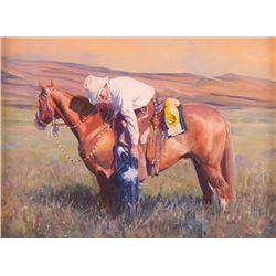 John Fawcett, oil on canvasboard