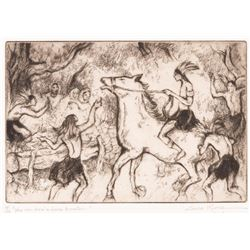 Gene Kloss, etching