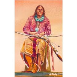Nancy Cawdrey, French dye on silk