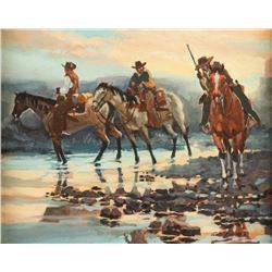 Gary Carter, oil on canvasboard