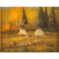 Bill Mittag, oil on canvasboard
