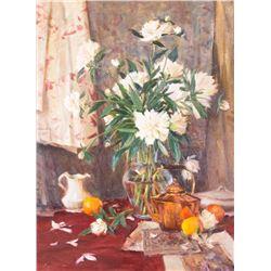 John Encinias, oil on canvas