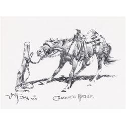 John Hampton, pen and ink Bill Hill, three drawings