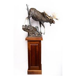 Sam Terakedis, bronze on custom pedestal