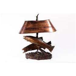 George Northup, tall bronze lamp