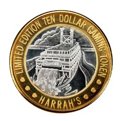 .999 Silver Harrah's Las Vegas, Nevada $10 Casino Limited Edition Gaming Token