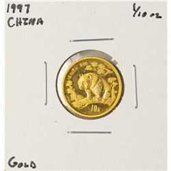 1997 China Panda 1/10 oz Gold Coin