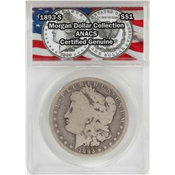 1893-S $1 Morgan Silver Dollar Coin ANACS Certified Genuine