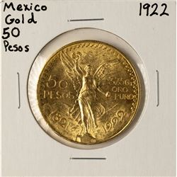 1922 Mexico 50 Pesos Gold Coin