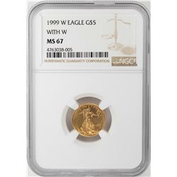 1999-W $5 American Gold Eagle Coin NGC MS67