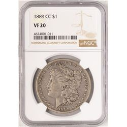 1889-CC $1 Morgan Silver Dollar Coin NGC VF20