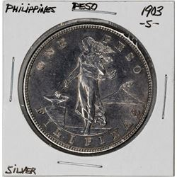 1903-S Philippines One Peso Silver Coin