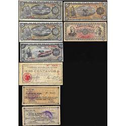 Lot of (8) Mexico Revolutionary Mixed Notes