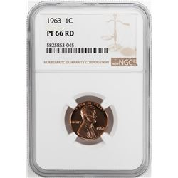 1963 Proof Lincoln Memorial Cent Coin NGC PF66RD