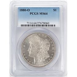 1880-O $1 Morgan Silver Dollar Coin PCGS MS64