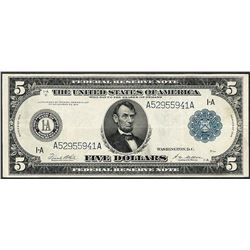 1914 $5 Federal Reserve Note Boston