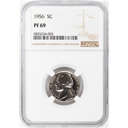 1956 Proof Jefferson Nickel Coin NGC PF69