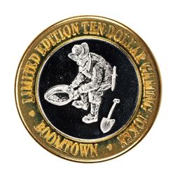.999 Silver Boomtown Las Vegas, NV $10 Casino Limited Edition Gaming Token