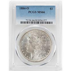 1884-O $1 Morgan Silver Dollar Coin PCGS MS66