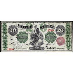 1863 $20 Legal Tender Note