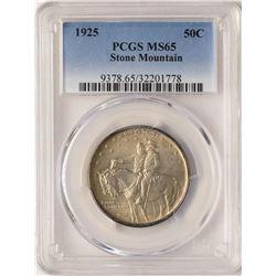 1925 Stone Mountain Stone Mountain Commemorative Half Dollar Coin PCGS MS65