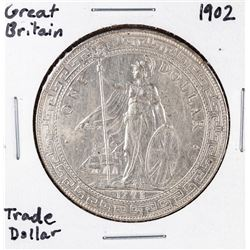 1902 Great Britain Trade Silver Dollar Coin