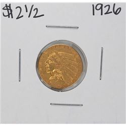 1926 $2 1/2 Indian Head Quarter Eagle Gold Coin