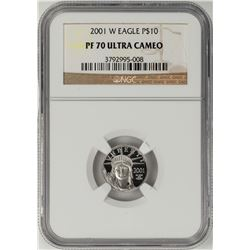 2001-W $10 Proof Platinum American Eagle Coin NGC PF70 Ultra Cameo