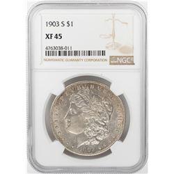 1903-S $1 Morgan Silver Dollar Coin NGC XF45