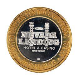 .999 Silver Nevada Landing Jean, NV $10 Casino Limited Edition Gaming Token