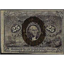 1863 Twenty-Five Cents Second Issue Fractional Currency Note
