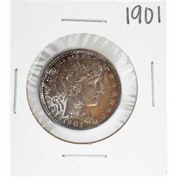 1901 Barber Quarter Coin Amazing Toning