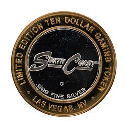 .999 Fine Silver South Coast Las Vegas, Nevada $10 Limited Edition Gaming Token
