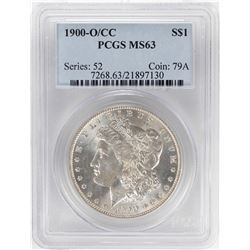 1900-O/CC $1 Morgan Silver Dollar Coin PCGS MS63