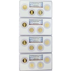 Lot of 2007-S to 2010-S $1 Proof Presidential Dollar Sets NGC PF69 Ultra Cameo