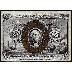 March 3, 1863 Twenty-Five Cents Second Issue Fractional Currency Note Rare Fr.1290