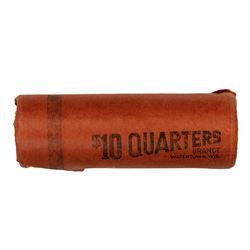 Original Bank Roll of (40) Brilliant Uncirculated 1962-D Washington Quarters