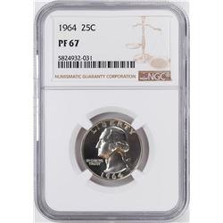 1964 Proof Washington Quarter Coin NGC PF67