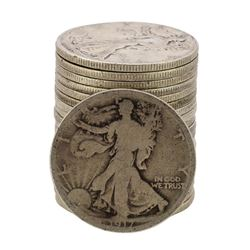 Roll of (20) Assorted Date 1929 and Earlier Walking Liberty Half Dollar Coins