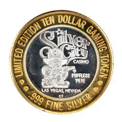 .999 Silver Silver City Las Vegas, Nevada $10 Limited Edition Gaming Token