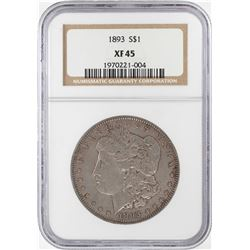 1893 $1 Morgan Silver Dollar Coin NGC XF45