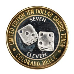 .999 Silver Colorado Belle Laughlin, Nevada $10 Casino Limited Edition Gaming Token
