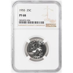 1955 Proof Washington Quarter Coin NGC PF68