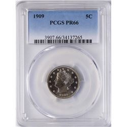1909 Proof Liberty Head V Nickel Coin PCGS PR66