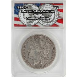 1893-O $1 Morgan Silver Dollar Coin ANACS Certified Genuine