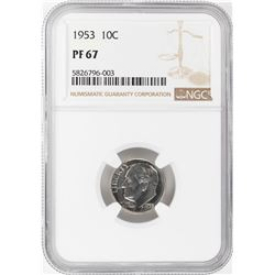 1953 Proof Roosevelt Dime Coin NGC PF67