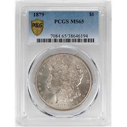 1879 $1 Morgan Silver Dollar Coin PCGS MS65