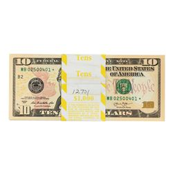 Pack of (100) 2013 $10 Federal Reserve Star Notes